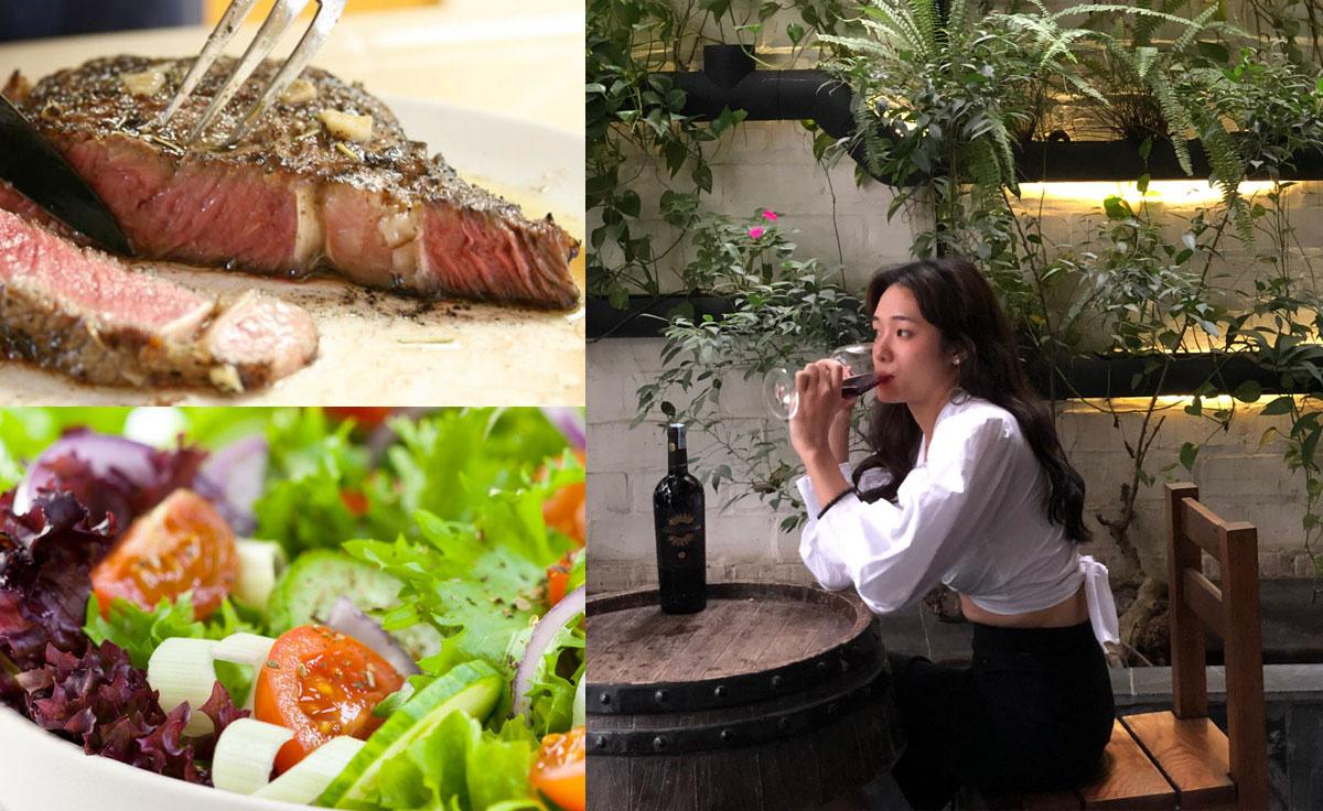 Gourmet dishes, Italian wine & Cuban cigar.